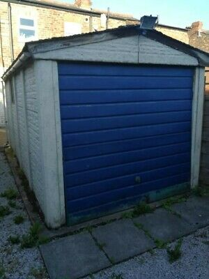 Concrete sectional single garage