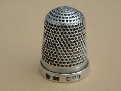 Very Fine Charles Horner Large Silver THIMBLE. Hallmarked Chester 1912