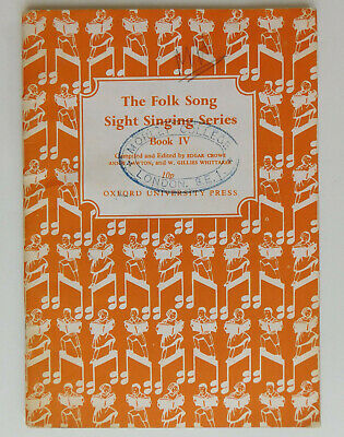 The Folk Song Sight Singing Series Book IV 4 vintage 1970s music lesson book
