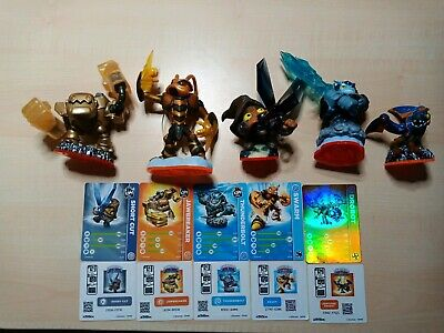 5 Skylander Figuren. 3 Trap Masters. 1 Giant. 1 Mini