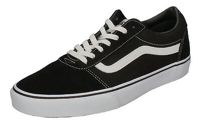 VANS IN ÜBERGRÖSSEN WARD (Suede Canvas) black white EUR
