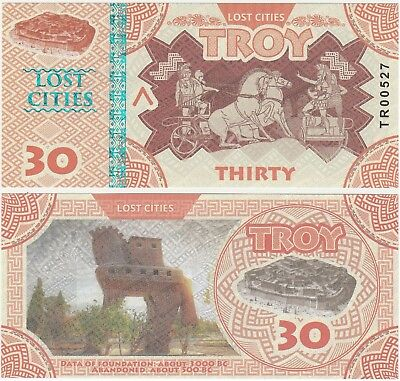 Turkey - Troy - 30 Lost Cities 2017 UNC Private Issue Banknote