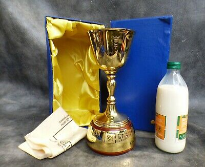 A Lovely Gold Plated Cricinfo 2001 Yorkshire Championship Cricket Trophy In Box