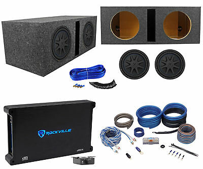 "(2) Kicker 44CVX102 CVX 10"" Subwoofers+Vented Sub Enclosure+Mono Amplifier+Wires"