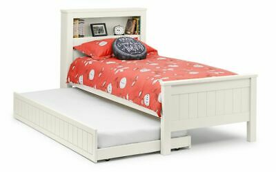Pluto Modern White Solid Pine Guest Bed With Underbed Trundle Kids Childrens