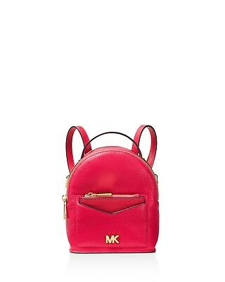 ebb65918c414 Michael Kors Jessa Extra Small Leather Convertible Backpack Deep Pink Gold  NWT