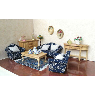 1/12 Wood Sofa Cushions Set Dollhouse Living Room Furniture Accessory Decor