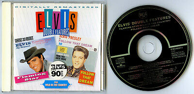 Elvis Presley CD Double Features Flaming Star Follow That Dream 90s FREE UK P&P