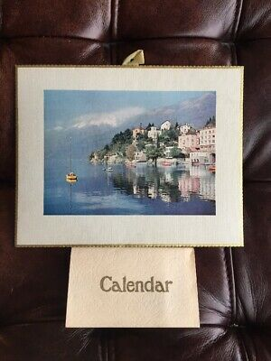 Vintage Calender Italian Lakes 1966 Unused Mid Century Collectable VGC