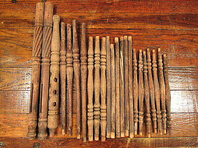 23 Vintage Wooden Chair Parts Spindles Ballusters Salvaged Furniture Repurpose