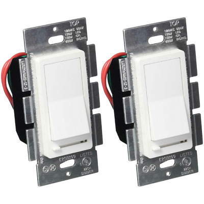 Single Switch & 3-Way Dimmer LED Decora Dimmer Switch LED 150W /CFL 600W 2 Pack