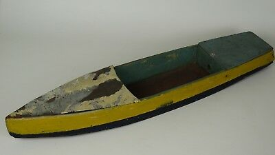 Vintage Primitive Handmade Folk Art Toy - Boat