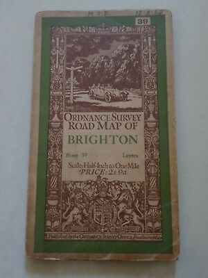 Ordnance Survey Half-Inch Sheet 39 - Brighton (1928)