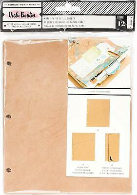 American Crafts Vicki Boutin Mixed Media Junque Journal Recharges Kraft 3 Con...