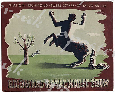 Early Twentieth Century Richmond Horse Show Promotional Poster A3/A4 Print