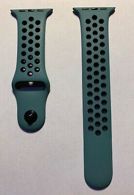 Apple Watch Nike+ Celestial Teal Black Sport Band Series 0 1 2 3 42mm 4 44mm M/L