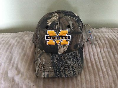 low priced 70240 47ec6 Michigan Wolverines Mossy Oak CAMO Hat Flex-Strap Adjustable