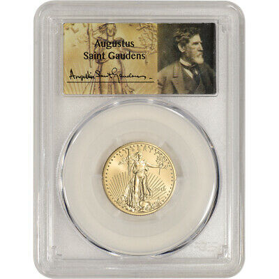 2016 American Gold Eagle 1/4 oz $10 - PCGS MS70 - First Strike St Gauden's Label