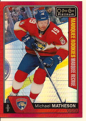 Michael Matheson 2016-17 O-Pee-Chee Opc Platinum Marquee Rookie Red Prism /199