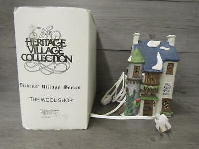Department 56 Heritage Village Collection Dickens Series The Wool Shop IOB