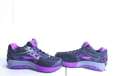 2bac4e2b6ba A1-593 Brooks Women s Ariel  16 Anthracite Purple Cactus Flower Primer SZ