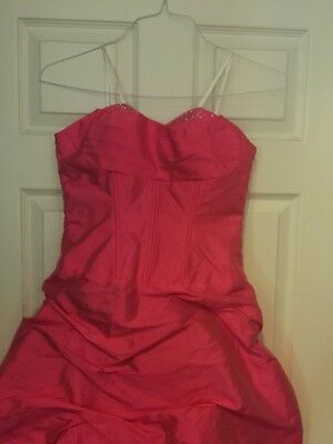 79d78186894 DILLARDS PINK LONG Ball Gown Prom Dress Strapless Blondie Nites By ...