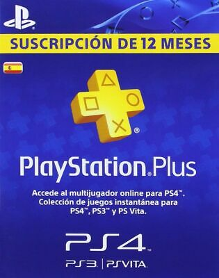 Playstation Plus 365 Dias Psn 12 Meses Suscripcion Ps4 Psn Store / Leer