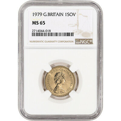 1979 Great Britain Gold Sovereign - NGC MS65 - ONLY 4 GRADED HIGHER