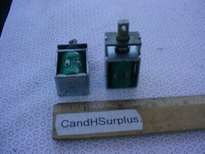 Solenoid 12 volt DC with captive spring return LOT OF 4 PCS