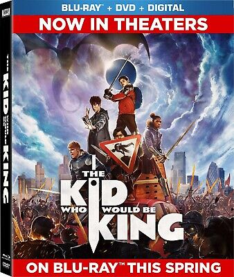 * THE KID WHO WOULD BE KING * HD Blu-Ray Disc ONLY Like New No Digital!