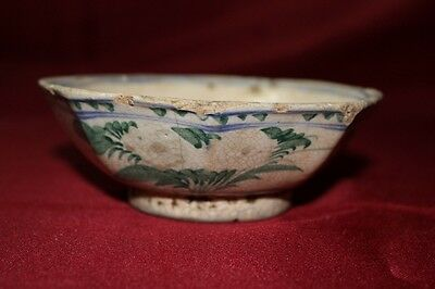 Antique Chinese Porcelain Bowl Plate Qing Dynasty Sea Found Old China