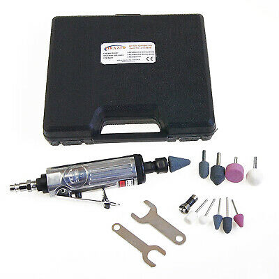 """Heavy Duty 15Pc 1/4"""" Air Die Right Angle Grinder Polisher Sander Kit"""