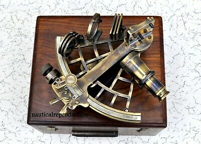 8 Inch Maritime Antiques Marine Captain Sextant - Brass Nautical Sextant