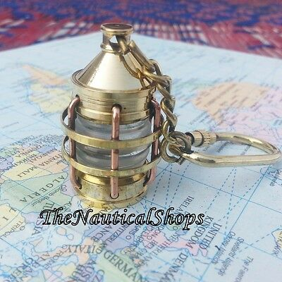 Solid Brass Copper Nautical Lamp Keychain X-Mas Gift Sailor Maritime Gift Decor