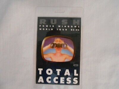 Rush Power Windows Tour 85-86 Laminated  Total Access Pass     SEE PHOTO