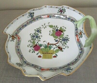 Herend Porcelain Leaf Dish Indian Basket Multicolour (FD)