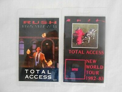 Two Rush Total Access Passes Hold Your Line 87-88/world Tour 82-83