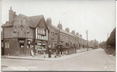 Hextable, Kent - College Road, Post Office - RP postcard by Camburn c.1920s