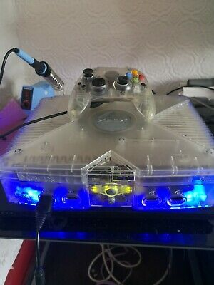 2TB TSOP Ultimate Crystal Xbox CONSOLE With Blue LED Lights