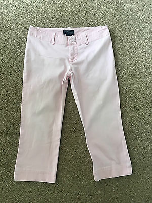 Age 10 Girl's Ralph Lauren Light Pink Cropped Summer Holiday Trousers  Rrp  £80