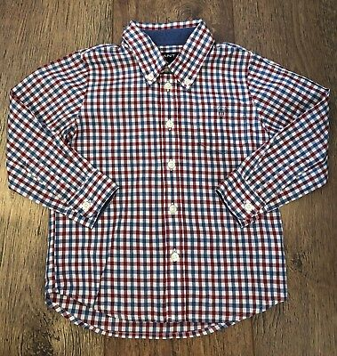 Boys Size 24M Gant Blue/Red/White Check Shirt Summer/Sport/Holidays/Casual/Towie