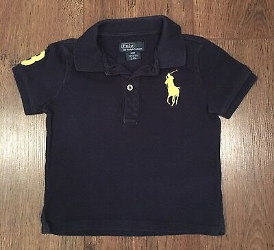 Age 18 M Ralph Lauren Navy Polo Shirt Winter/Sport/Football/Xmas/Baby Rrp £65