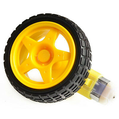 Arduino Smart Car Robot Plastic Tire Wheel with DC 3-6v Gear Motor DECO