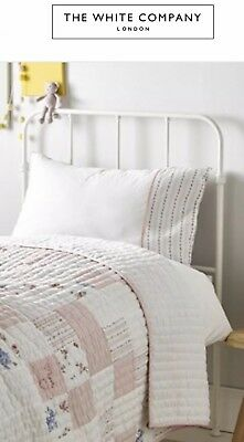 The Little White Company Heart Patchwork Quilt Bed Spread BNWT RRP £165