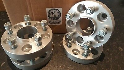 Land Rover Discovery 2 TD5/P38 Wheel Spacers 30mm Hubcentric Aluminium Bulldog