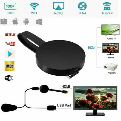For Chromecast 4rd Generation 1080P Digital HDMI Media Video Streamer Player WH