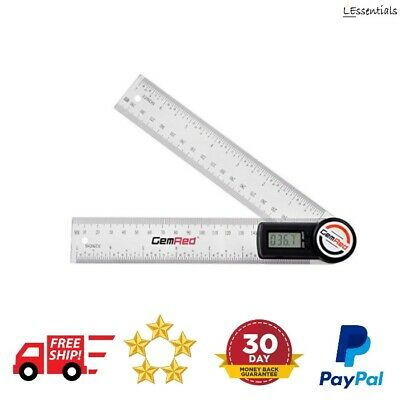 Digital Angle Finder 200mm/7 Inch Plastic Ruler Protractor Combination Measure