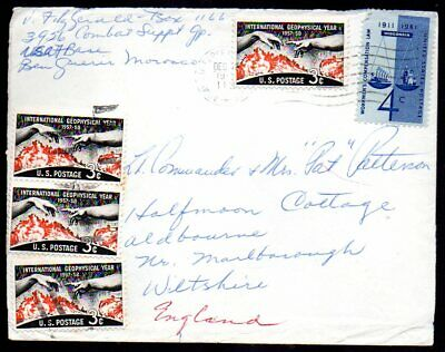 Morocco: 1960 US Military cover to UK from US FPO Ben Guerir