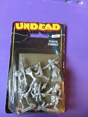 5 Undead Zombies New In Blister - DeadWalkers  Warhammer AoS METAL 1980s