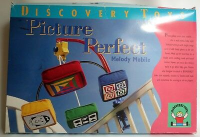 1999 Vintage Discovery Toys Picture Perfect Melody Crib Mobile Music Box NEW